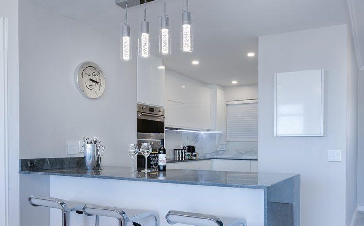 modern minimalist kitchen, contemporary, indoors
